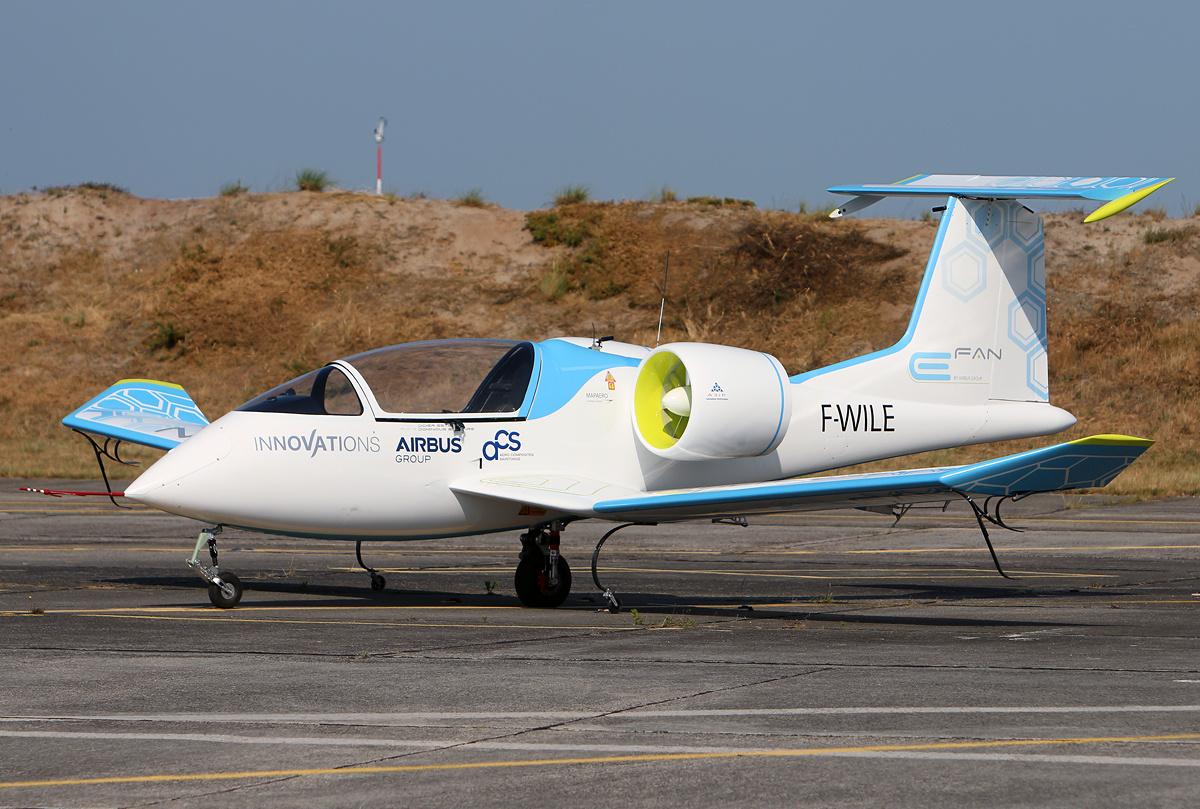 E-fan d'Airbus, prototype d'avion à propulsion électrique